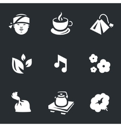 Icons Set of Tea ceremony vector image