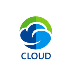 eco cloud icon logo vector image vector image