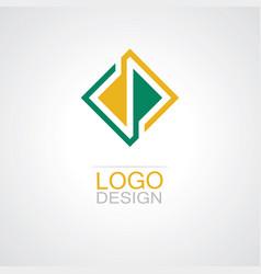 square line company logo vector image