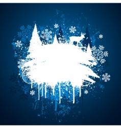 winter grunge design vector image vector image