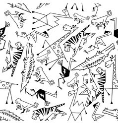 African and jungle animals seamless background vector image