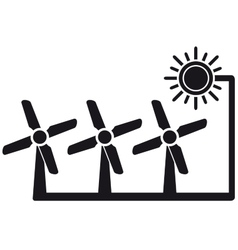 alternative energy symbol with windmill vector image