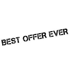 Best Offer Ever rubber stamp vector image vector image