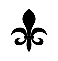Fleur de lis heraldry symbol vector image