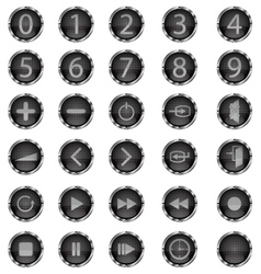 glass buttons 141012 vector image