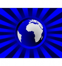 globe with rays vector image