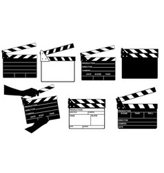 set of different clapperboards vector image vector image