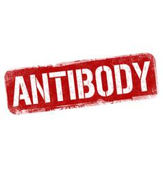 Antibody grunge rubber stamp vector