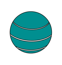 ball sport blue flat vector image