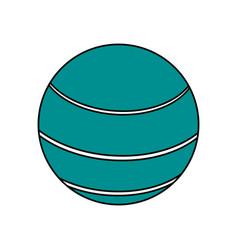 Ball sport blue flat vector