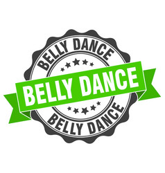 Belly dance stamp sign seal vector