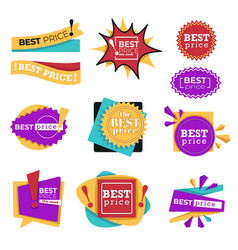 best price or sale special offer or discount vector image