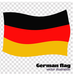 Bright button with flag of germany banner vector
