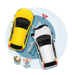 car accident with two cars vector image