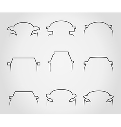 Cars outline icons vector image