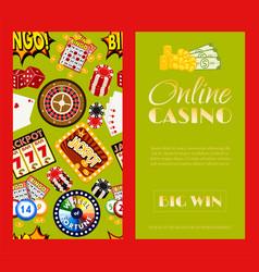 casino online set banners vector image