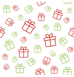 Christmas seamless pattern with gift boxes vector