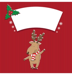 christmas with deer vector image