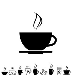 Coffee cup black icon vector