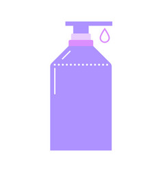 container with dispenser del shower or liquid vector image