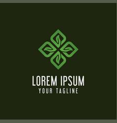 creative decorative leaf logo concept design vector image