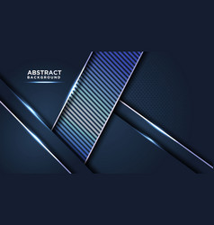 dark abstract background with blue overlap vector image