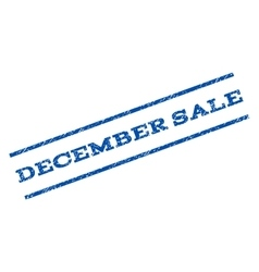 December Sale Watermark Stamp vector