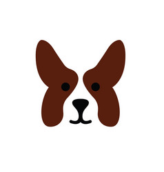 dog head of welsh corgi breed vector image