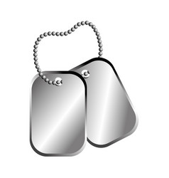 Dog tag plate vector