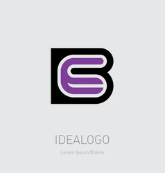 E and b initial logo initials monogram vector