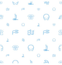 earphone icons pattern seamless white background vector image