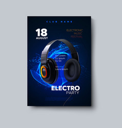 Electronic music festival poster mockup vector