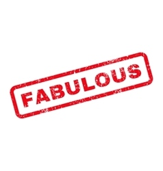 Fabulous Text Rubber Stamp vector