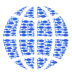 Fish globe composition vector