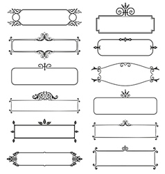 Frame decorative elements set vector image