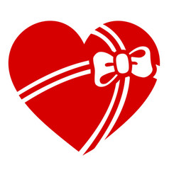 gift heart icon simple style vector image