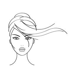 girl vector image