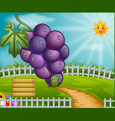 grape house in garden vector image