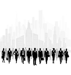 group of businessmen in city vector image