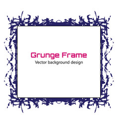 grunge frame grunge paint template eps10 vector image