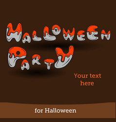 halloween background for party vector image