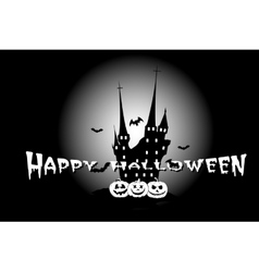 Halloween poster with haunted house vector