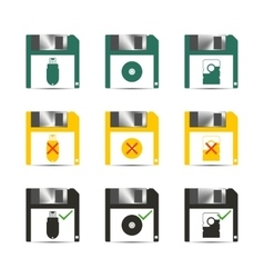 Icons save vector image