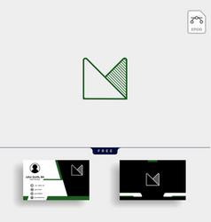 Letter m infinity line logo design template vector