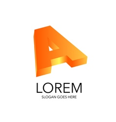 Literal style logo in 3D vector