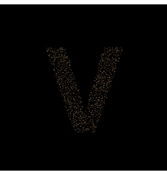 Magic V letter vector image