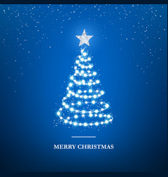 merry christmas greeting card template garland in vector image