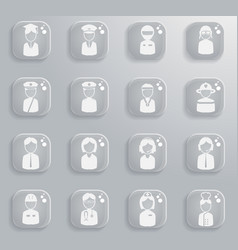 Ocupation simply icons vector