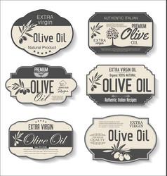 olive oil retro vintage labels collection 0124 vector image