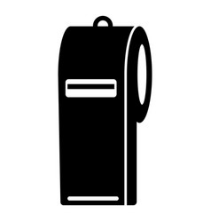 Police whistle icon simple style vector